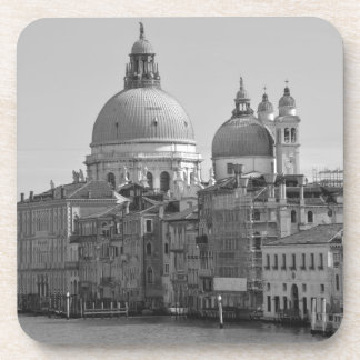 Black White Grand Canal Venice Italy Travel Coasters