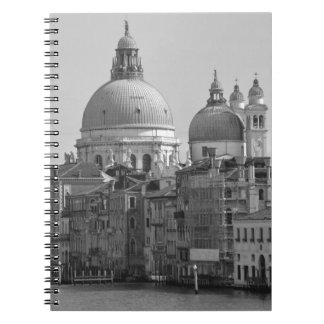 Black White Grand Canal Venice Italy Travel Note Books