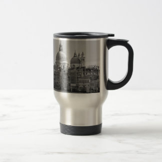 Black White Grand Canal Venice Italy Travel Travel Mug
