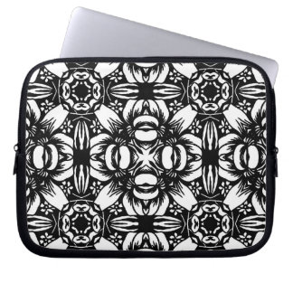 Black & White Graphic Laptop Sleeve