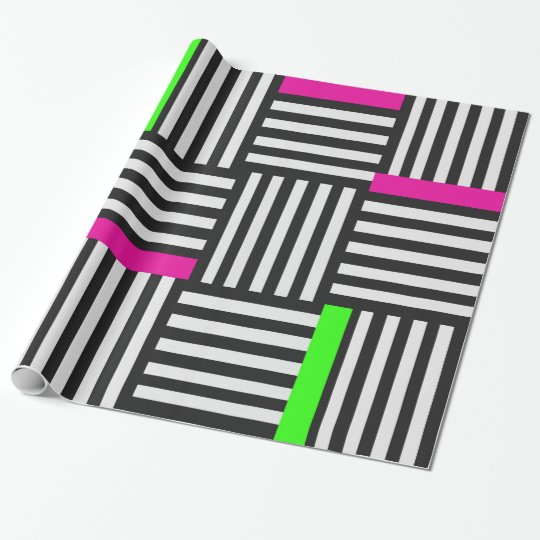 Black & white graphic wrapping paper