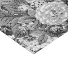 Black & White Gray Tone Vintage Floral Toile No.3 Tissue Paper