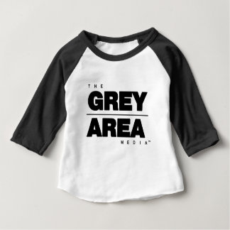 Black/ White Grey Area Apparel Baby T-Shirt