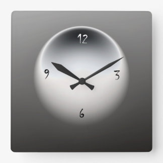 Black/White/ Grey> Minimalist Wall Clock