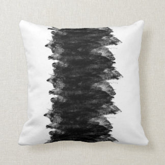 Black White Grunge Throw Pillow