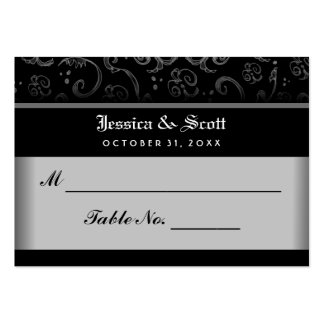 Black White Halloween Gothic Wedding Seating Cards Pack Of Chubby Business Cards