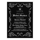 Black White Halloween Wedding Gothic Bridal Shower Card