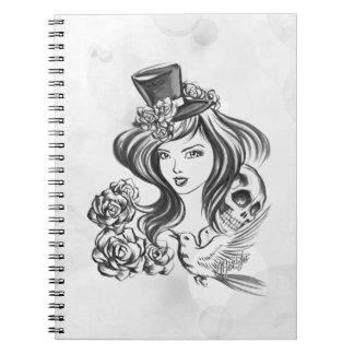 Black & White Hand Painted Coffee Art Notebook