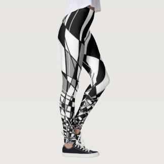 Black & White Harlequin Leggings
