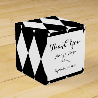 Black White Harlequin Pattern Favor Box