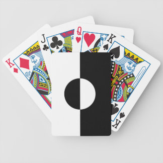 Black & White Harmony Bicycle Playing Cards