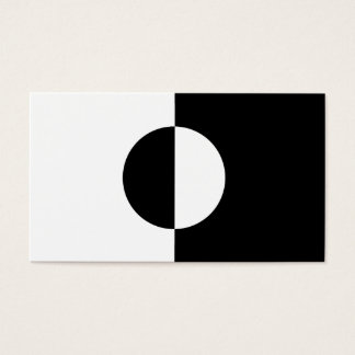 Black & White Harmony Business Card