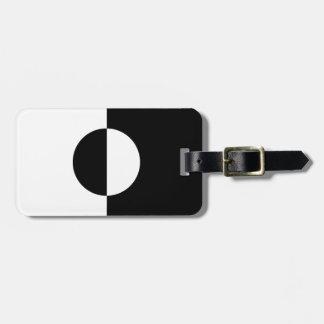 Black & White Harmony Luggage Tag