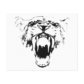 Black & White Hear My Roar! - Canvas