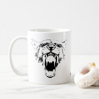 Black & White Hear My Roar! - Coffee Mug