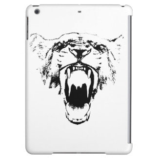 Black & White Hear My Roar! - iPad case