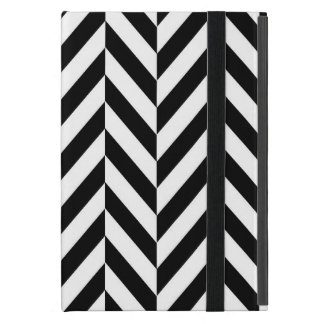 Black & White Herringbone Design, iPad Mini Case