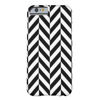 Black & White Herringbone Design iPhone 6/6s Case