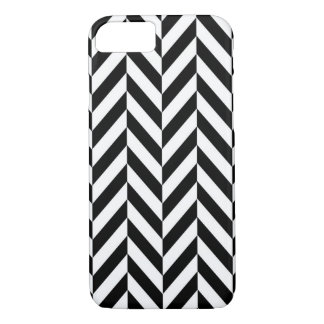 Black & White Herringbone Design iPhone 7 Case