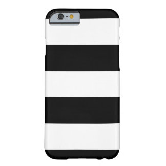 Black & White Horizontal Stripes | Any Model Phone Barely There iPhone 6 Case