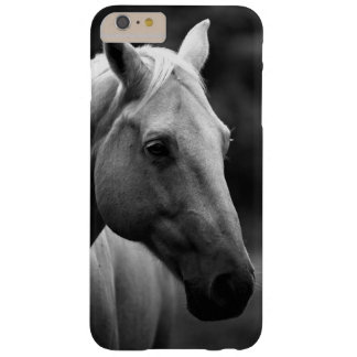 Black White Horse Barely There iPhone 6 Plus Case