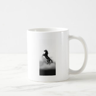 Black White Horse Classic White Coffee Mug