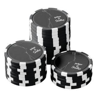 Black & White Horse Silhouette Poker Chips