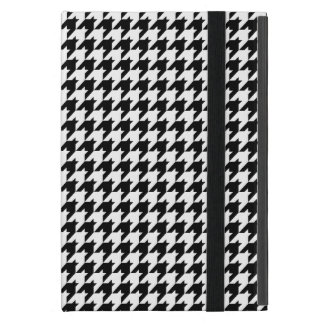 Black & White HoundsTooth Check Pattern iPad Mini Covers