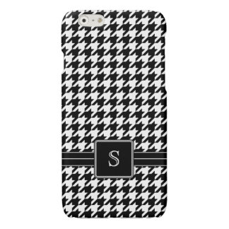 Black White Houndstooth Custom Monogram Initial