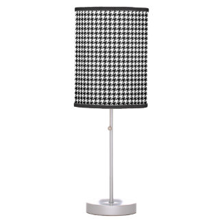 Black & White Houndstooth Decorative Retro Light Desk Lamps