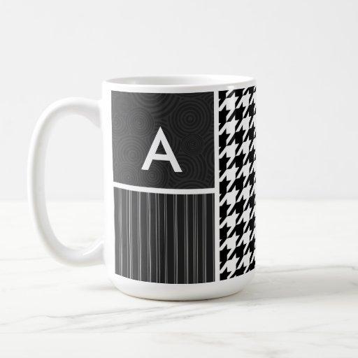 Black & White Houndstooth Mugs