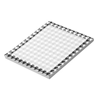 Black & White Houndstooth Notepad
