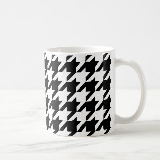 Black & White Houndstooth Pattern Coffee Mug