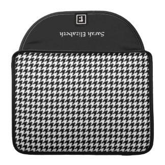 Black White Houndstooth Stylish Fashion Designer Sleeve For MacBooks