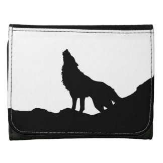 Black & White Howling Wolf Wallet