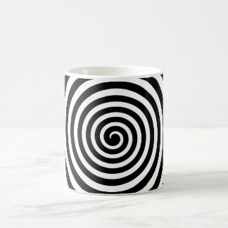Black & White Hypnotic Spiral Coffee Mug