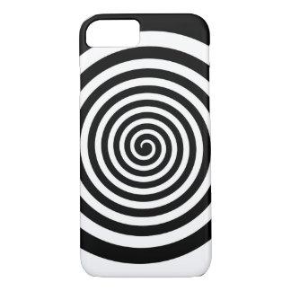 Black & White Hypnotic Spiral iPhone 8/7 Case