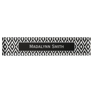 Black/White Ikat Pattern with Executive Name Nameplate