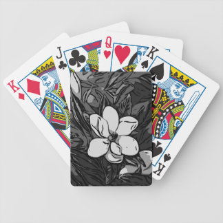 Black&White Ink Flower Bicycle Playing Cards