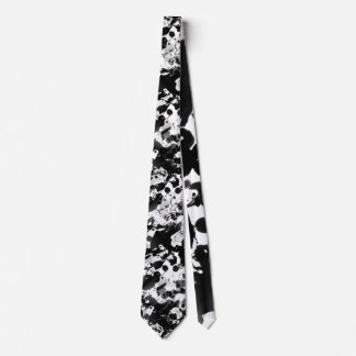 Black & White INK SPLASHES seamless pattern Tie