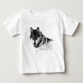 Black White Inspirational Wolf Eyes Baby T-Shirt
