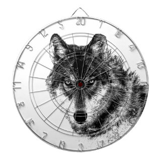 Black White Inspirational Wolf Eyes Dart Boards