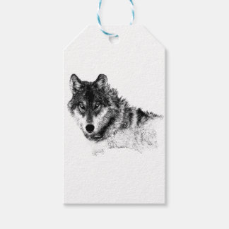 Black White Inspirational Wolf Eyes Gift Tags