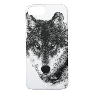 Black White Inspirational Wolf Eyes iPhone 7 Case