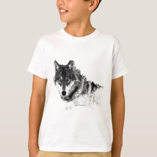 Black White Inspirational Wolf Eyes T-Shirt