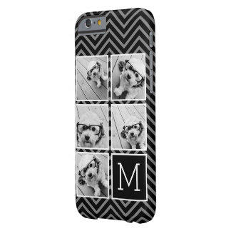 Black White Instagram 5 Photo Collage Monogram Barely There iPhone 6 Case