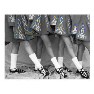 Black & White Irish Dance Postcard