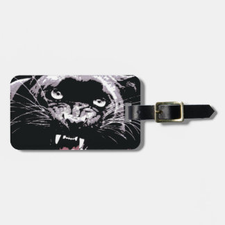Black & White Jaguar Eyes Luggage Tag