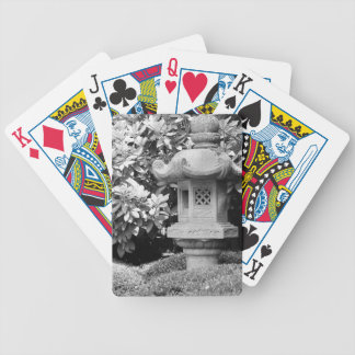 black white japanese garden bicycle playing cards