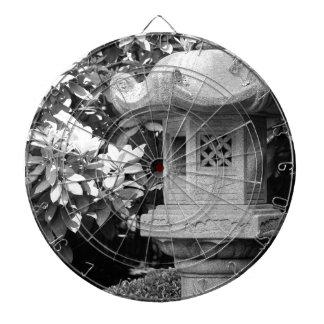 black white japanese garden dartboard